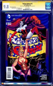 Harley Quinn #13 Variant (2014) CGC 9.8 Signature Series Signed x2 Amanda Conner Jimmy Palmiotti DC comic